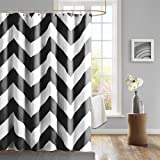 Mizone Libra Shower Curtain - Black - 72x72""