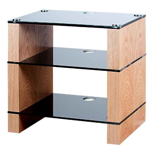 Cheap BLOK STAX DeLuxe 300 Three Shelf Oak Hifi Audio Stand & AV TV Furniture Rack Unit (B003AKJHKQ)