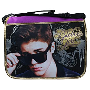 Amazon.com: Justin Bieber Bieber's Girl Messenger Backpack: Clothing