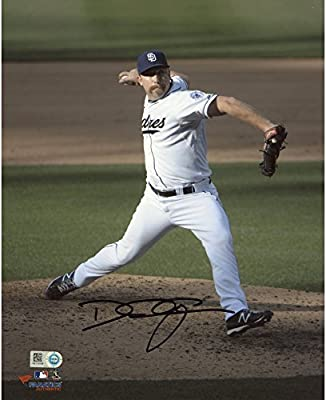 "Dale Thayer San Diego Padres Autographed 8"" x 10"" White Pitching Photograph - Fanatics Authentic Certified"