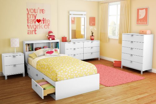 Image Result For South Sspark Twin Storage Bed And Bookcase Headboard Pure White