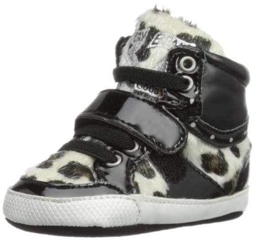 Replay Unisex-Baby Wilson Booties JX030047S Black White 3-6 Months, 17 EU