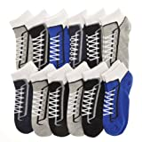 Angelina Dozen-Pack COTTON Low Cut Socks, #2305_TNSB_1-3