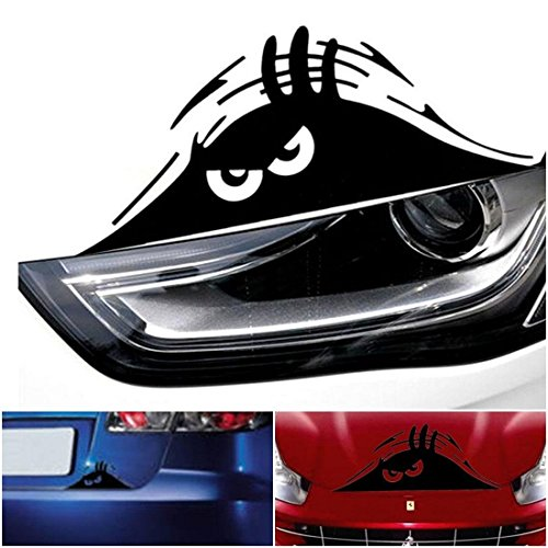 1 Pc Outstanding Popular Funny Peeking Monster Car Sticker Vinyl Emblem Walls Graphic Scary Eyes Color Black (Pitbull Car Emblem compare prices)