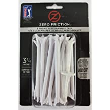 PGA Tour Zero Friction, 3 Prong, 3-1/4 Inch, Performanc Golf Tees, 30 Pack, White