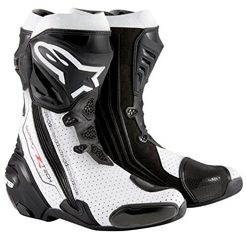 Alpinestars Supertech R Men's Street Motorcycle Boots - Black/White / 44
