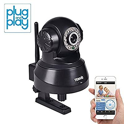 TENVIS JPT3815W Wireless IP Pan/Tilt/Night Vision/Audio Surveillance Camera with Remote Monitoring