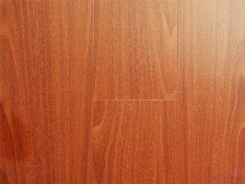 12.3 mm Durique Piano Finish Laminate Diamond Mahogany Flooring (6 inch Sample)