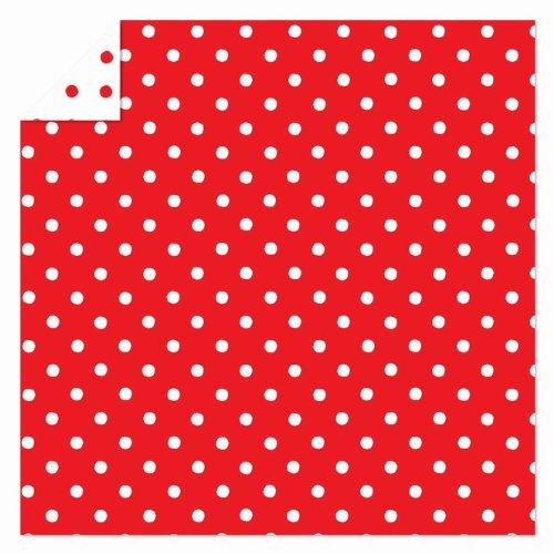 Karen Marie - Origami Faltblätter, 15x15cm, rot-weiß gepunktet