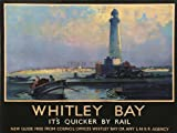 TRAVEL TOURISM WHITLEY BAY TYNE WEAR ENGLAND UK LIGHTHOUSE ST MARY 30X40 CMS FINE ART PRINT ART POSTER BB10009