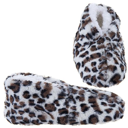 Image of GMI Snuggle Feet Brown Leopard Slippers for Women (B009TH37SM)