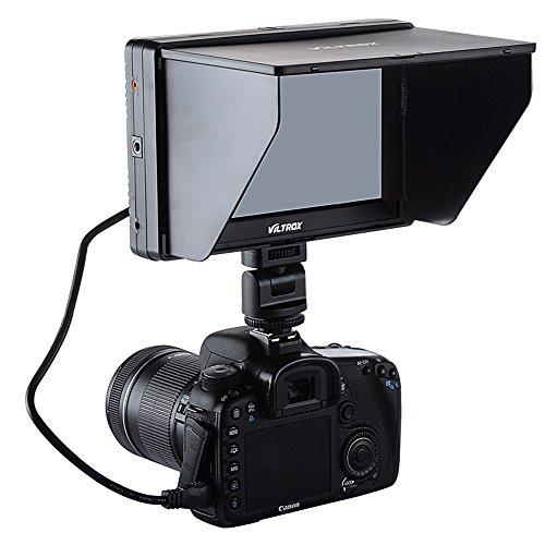 Viltrox Dc-70 Clip-On Color 7'' Tft Lcd Hd Monitor Hdmi Av Input 1280 * 800 For Sony,Canon,Nikon Dslr Camera Camcorder