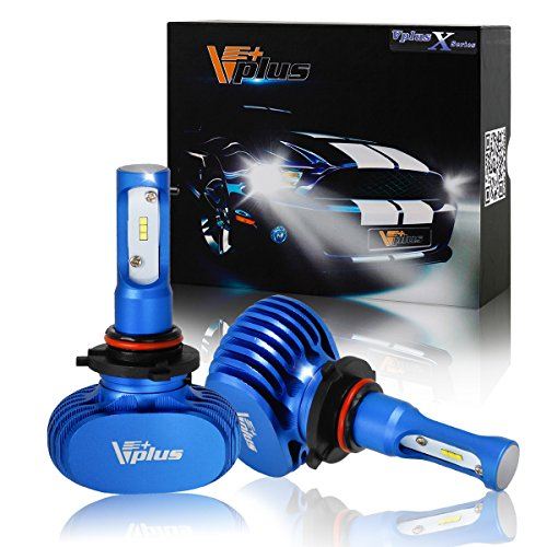 Vplus X Series LED Headlight Bulbs w/ Clear Arc-Beam Kit - 9005 HB3 72W 8,000LM 6500K White Seoul w/ No Fan All in One Headlamp LED Conversion Replace HID & Halogen - 1 Yr Warranty - (2pcs/set) (Toyota Corolla 2003 Headlamp compare prices)