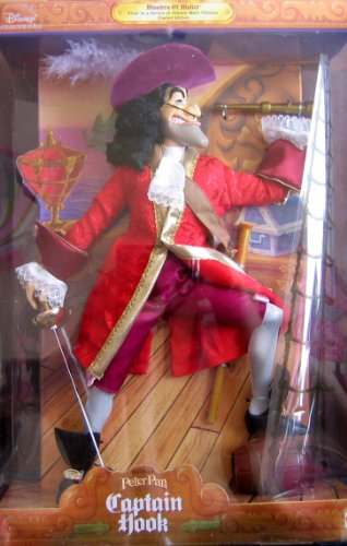 Disney Peter Pan CAPTAIN HOOK Doll Masters of Malice - 1st in Series Male Villains Limited Edition (1999) (Peter Pan Barbie compare prices)