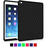 Fintie iPad Air 2 Case - [Honey Comb Series] Light Weight [Anti Slip] Shock Proof Silicone Protective Case Cover [Kids Friendly] for iPad Air 2 (iPad 6) 2014 Model, Black