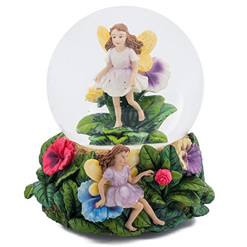 Magical Fairies 100MM Music Water Globe Plays Tune Greensleeves
