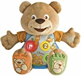 Chicco 21.5 cm Teddy Count With Me (GB/FR) Bilingual Musical Soft Toy
