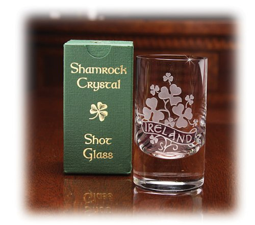 Crystal Shamrock Shot Glass