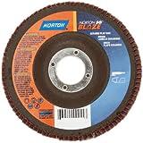 Norton Blaze R920 Abrasive Flap Disc, Type 27, Round Hole, Fiberglass Backing, Ceramic Aluminum Oxide