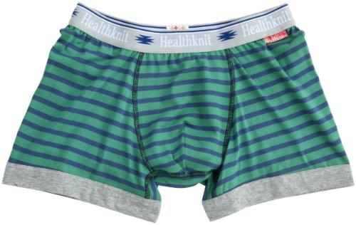 (ヘルスニット)Healthknit Stripe Boxer HN-003  GREEN M