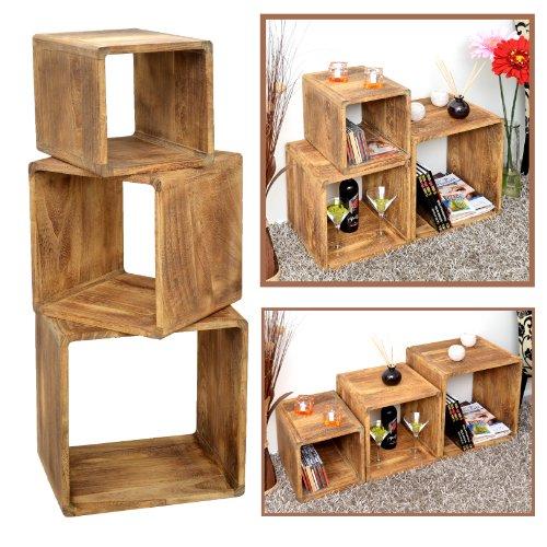 3er Set Lounge Cube Regal