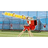 Trend Sports Heater Softball Pitching Machine and Xtender 24' Cage by Trend Sports