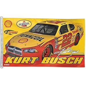 NASCAR Kurt Busch 3-by-5 foot Flag by WinCraft