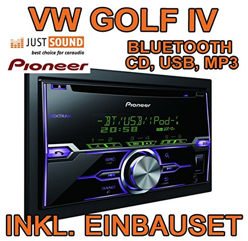 VW golf 4/bora-pioneer fH-x720BT d'autoradio 2 dIN avec bluetooth uSB