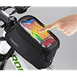 FOXNOV Roswheel 2014 New Updated Cycling Bicycle Bike Front Tube Top Tube Smartphone Bag Frame Pannier Phone Holder for iPhone Samsung HTC Nokia Sony LG and other Smartphones