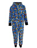 Boys Ex M&S Blue all in one sleeper skull & glasses Age 6-7 upto 15-16 years