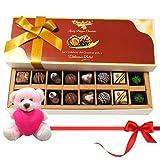 Valentine Chocholik Premium Gifts - Sweet Chocolates And Truffles Treat With Teddy