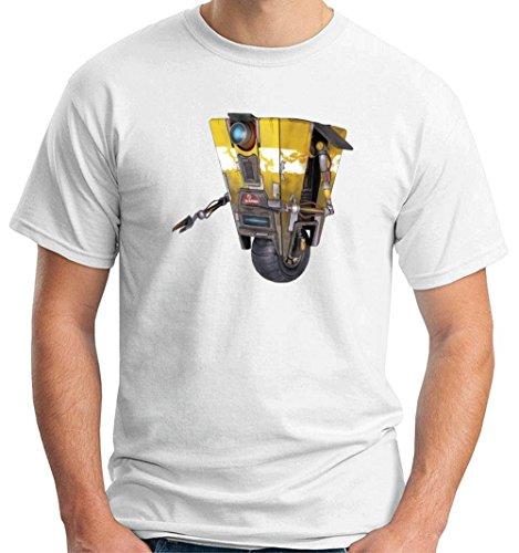 Cotton Island - T-shirt T0960 Claptrap borderlands film inspired, Taglia medium