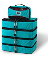 Pro Packing Cubes - 5 Piece Lightweight Travel Packing Cubes Set - Organizers and Compression Pouches System for Carry-on Luggage Accesories, Suitcase and Backpacking
