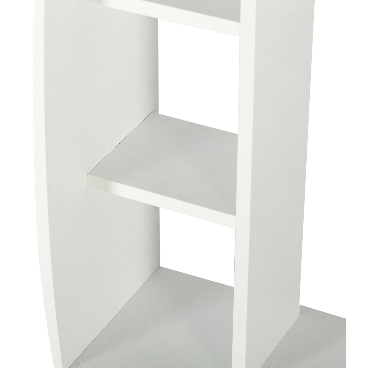 Edencomer FSC Certified Wall Mounted Floating Desk Home Office Computer Desk with Storage Shelves, White