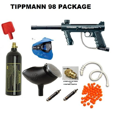 TIPPMANN 98 SEMI AUTO PAINTBALL MARKER (COMPLETE PACKAGE)
