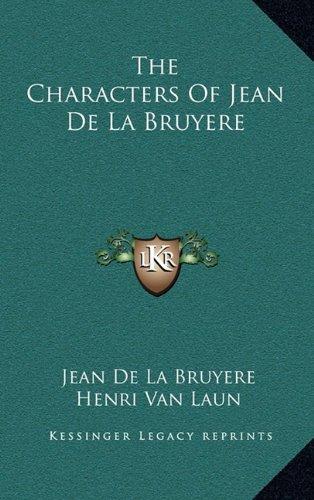 The Characters of Jean de La Bruyere