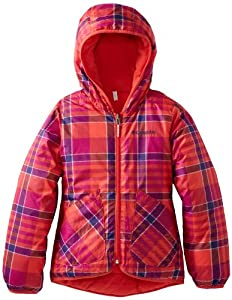 Columbia Girls 7-16 Dual Front Jacket, Red Hibiscus Plaid, Medium