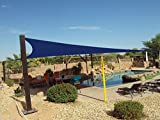 New Premium Clevr Sun Shade Canopy Sail 16.5x16.5x16.5 Triangle Outdoor Blue
