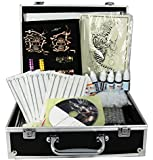Complete Tattoo Kit Machine Gun 11 Color (Double Black) Inks + Needles + Power Supply