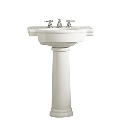 American Standard 0282.800.020 Retrospect Pedestal Bathroom Sink with 8-Inch Faucet Spacing, White