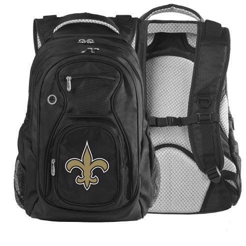 NFL New Orleans Saints Denco Travel Backpack, Black at Amazon.com