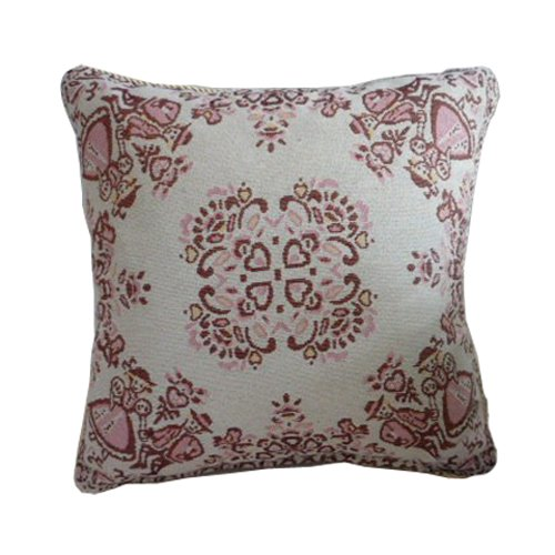 "R.Lang Jacquard Faux Linen Cushion Pillow Prince And Princess 1 Pcs 18""X18"" front-478087"
