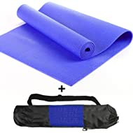 Cheap YOGA MAT - 6mm thick. Be kind to your knees Blue Price-image