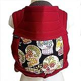 BabyHawk Baby Carrier - Mei Tie Version - Black Calaveras on Cherry Straps