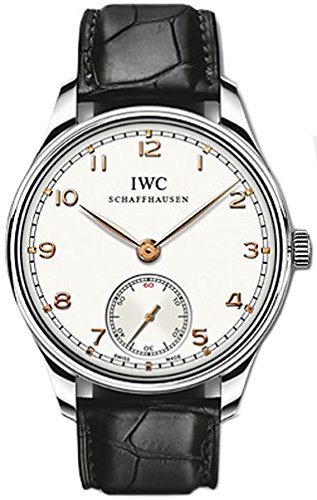 IWC Portuguese Hand-Wound White Dial Mens Watch IW545408