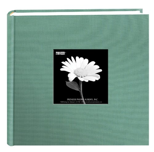 Fabric Frame Cover Photo Album 200 Pockets Hold 4x6 Photos, Tranquil Aqua (Tranquil Pictures compare prices)