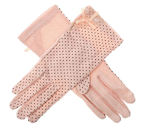 IL caldo Women's Outdoor Summer Driving Gloves,Anti ultraviolet cotton gloves anti-skid breathable,Pink