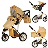Metro 3 Wheel 3 in 1 Travel System - Gold