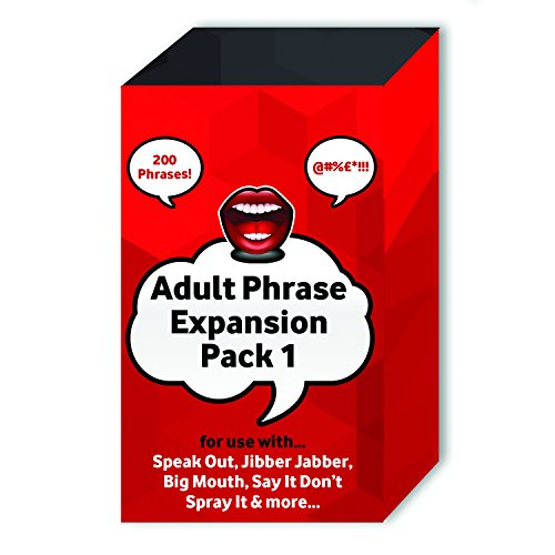 Adult Phrase Card Expansion Pack 1 for Speak Out / BIG Mouth / Jibber Jabber / Say It Don't Spray It / Explicit