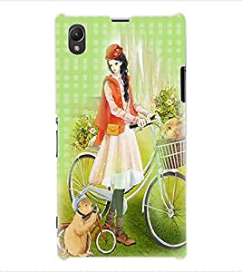 ColourCraft Girly Back Case Cover for SONY XPERIA Z1 - C6903 / C6906